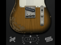 Guitar app — new UI plus custom paint jobs
