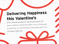 Free Chocolate Today - postmates.com/valentines