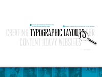 Creating Typographic Layouts for Content Heavy Websites and Apps