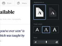 Font Album Wip. Reading controls