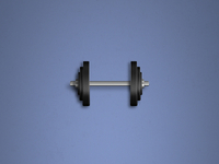 Dumbbell Icon (Psd / Vector)