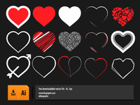 Vector Hearts Collections