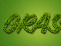Grass Text Effect (Free)