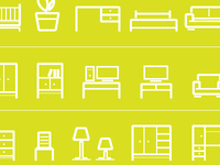 Free Vector Furniture Icons
