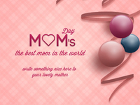 Mom's Day Greeting Card (Free Psd)