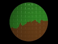 Circle green brown combo
