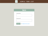 Simple todo list