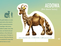 Aedowa Creature Stand-up