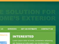 Exterior Co. Website - Navigation
