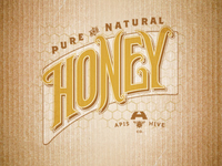 Apis Hive :: Honey Logotype