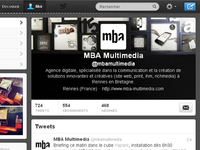 The new Twitter header of mba