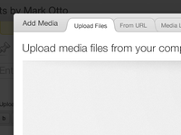Redesigned WordPress Media Uploader