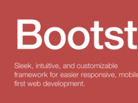 Bootstrap homepage idea