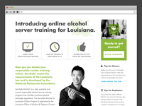 Landing Page for Alcohol Certification