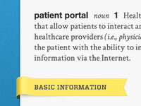 What is a Patient Portal? Definition/ribbon