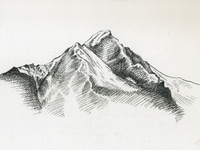 Alaskan Ridge Sketch