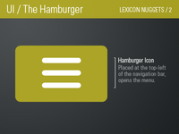 Hamburger Icon / Lexicon Nugget 2
