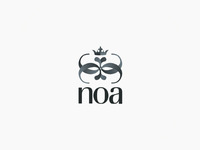 Noa glam club logo design