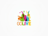 GoLive - musical instruments, stage equipment - logo design