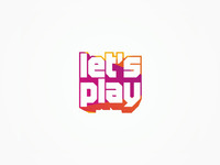 Let's play gaming portal logo design