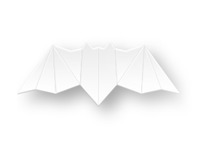 alextass.com logo design symbol - the paper bat