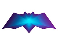 alextass.com logo design symbol - the warp bat