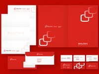 Bauten stationery design
