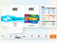 Ciel stationery design