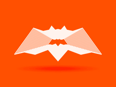 Halloween-bat-orange-personal-branding-logo-design-by-alex-tass