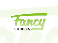 Fancy Edibles logo design for creative edibles blog