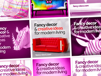 Fancy Deco banner ads design