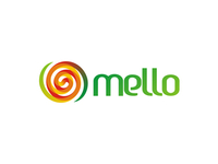 Mello, melon juice logo design