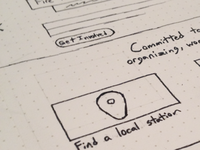 Upcoming Site Wireframe Sketch