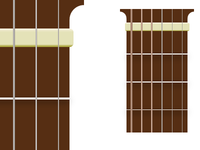 Guitar Neck for Chord Diagrams