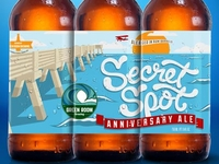 Green Room Brewing Secret Spot Anniversay Ale