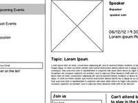 Lecture Series Wireframes