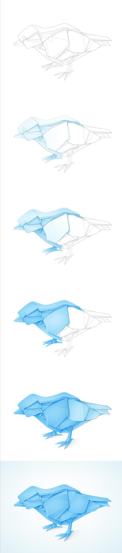 Twitterbird origami