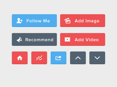 Flat UI Buttons (PSD Included)