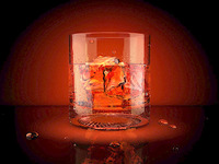 whiskey 3d icon