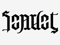SCARLET Rotational Ambigram