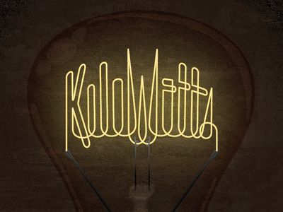 KiloWatts Light Bulb Sticker Design