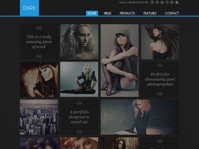 Download Dark Fashion Template