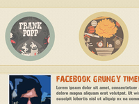 Grungy Facbook Timeline Template