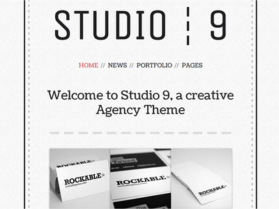 Studio 9 - A creative Agency Wordpress Theme