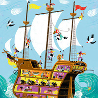 Pirate Ship Illustration Very Small