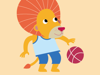 basketball lion boy