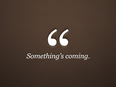 Something_scoming