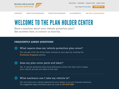 Endurance Plan Holder Center