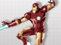 WIP Iron Man Drawing