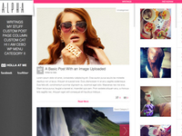 Alpha...totally Horizontal Wordpress Theme